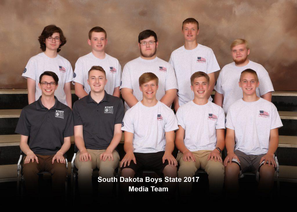 South Dakota Boys State Media Team 2017
